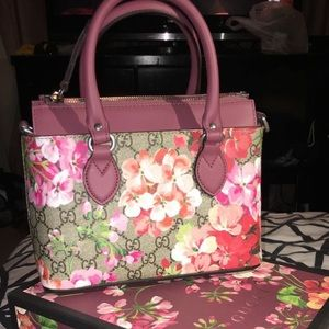 Gucci GG Supreme Mini Blooms Tote.